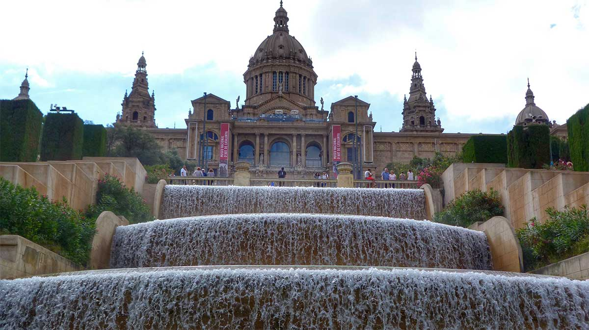 Fountains at the Museum of Catalan Art