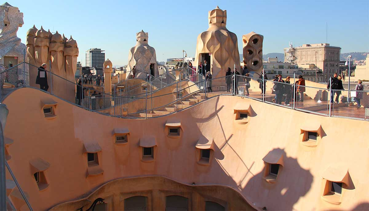 La Pedrera in Barcelona - The roof